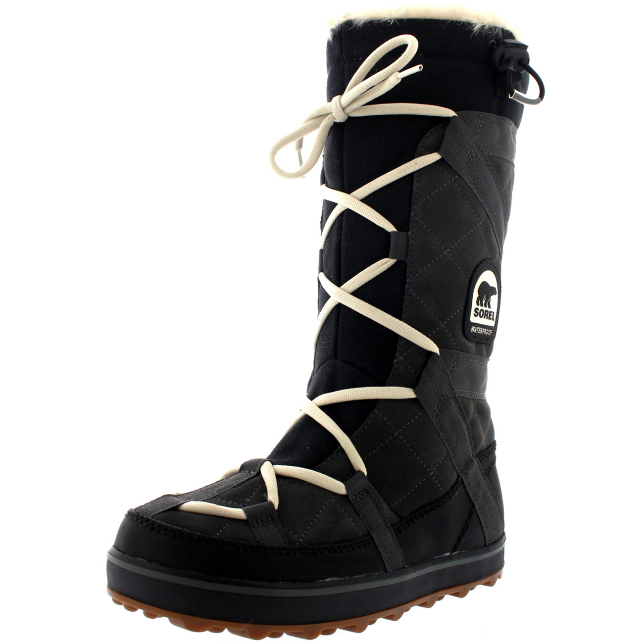 Womens Sorel Glacy Explorer Waterproof Winter Rain Fur Lined Snow ...