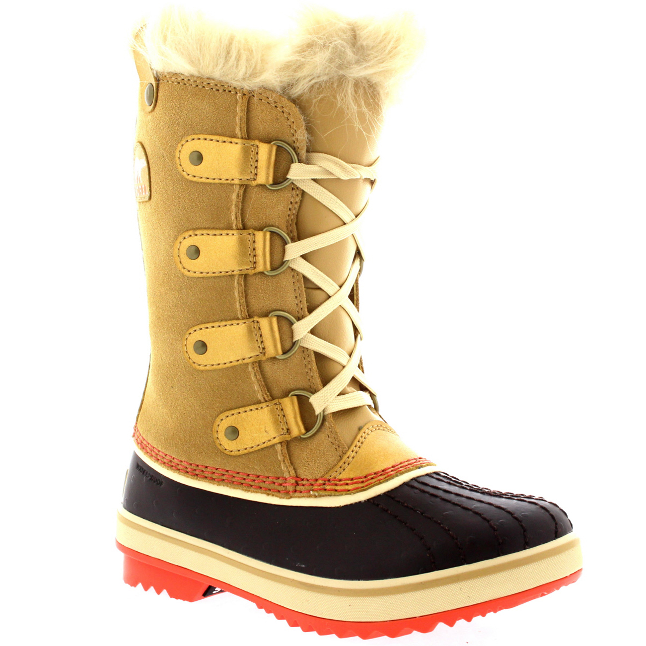 Unisex Kids Youth Sorel Tofino Fur Lined Waterproof Winter Snow ...