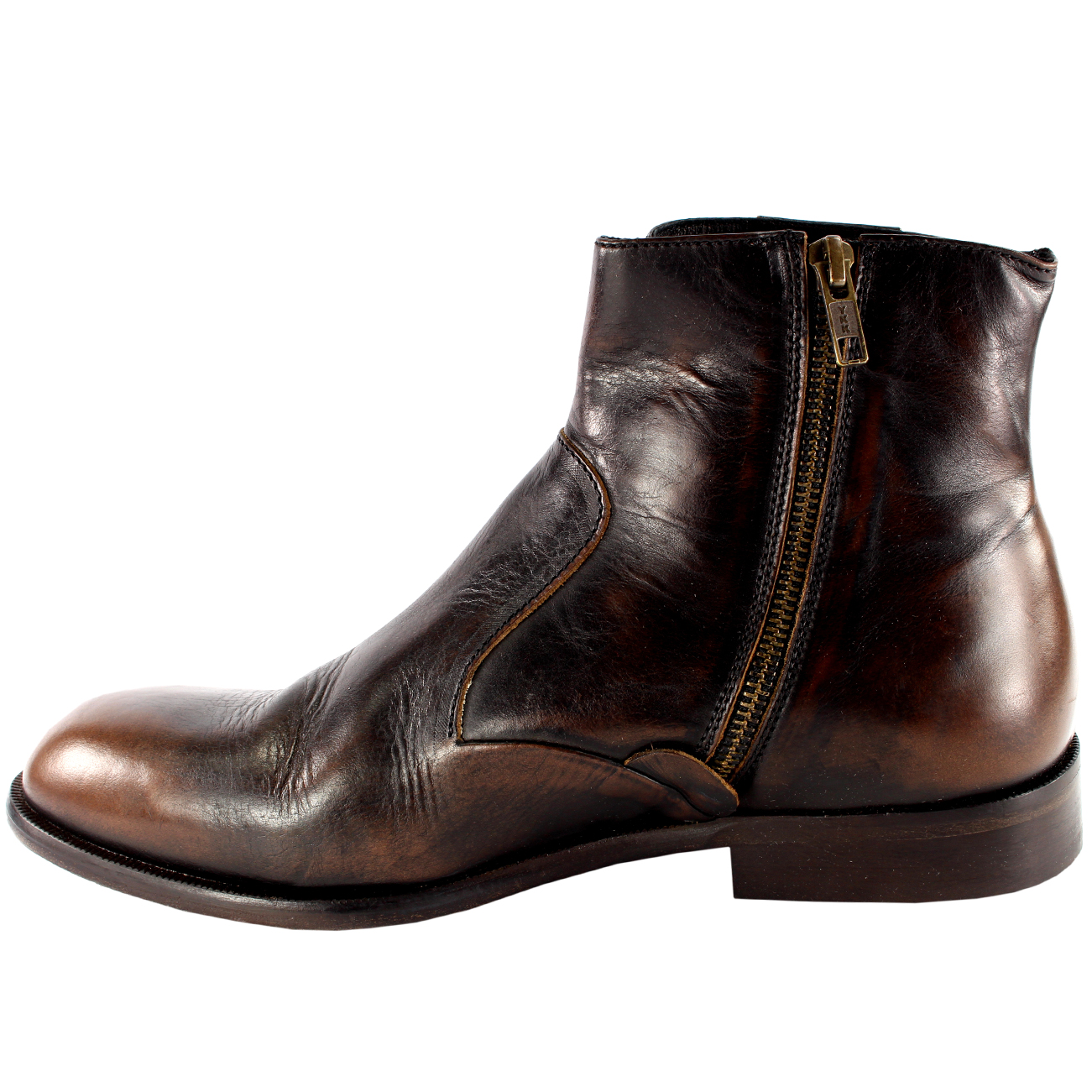 Mens H By Hudson Haxton Smart Side Zip Leather Chelsea Ankle Boots ...
