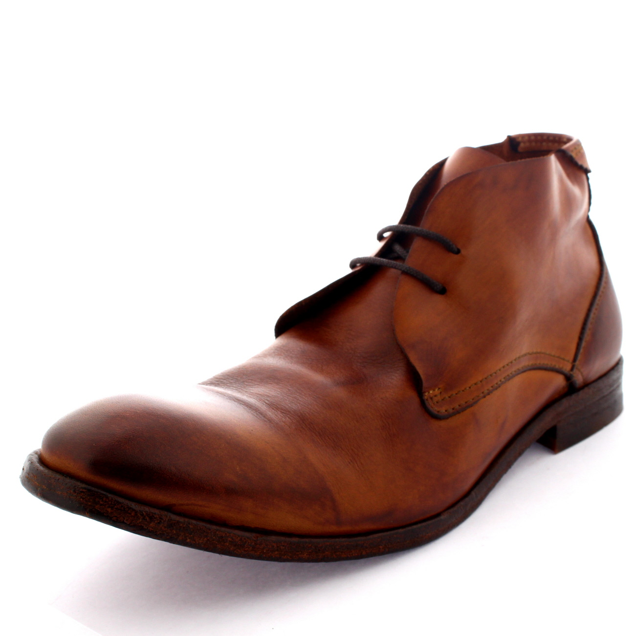 mens h by hudson osbourne lace up smart leather ankle high