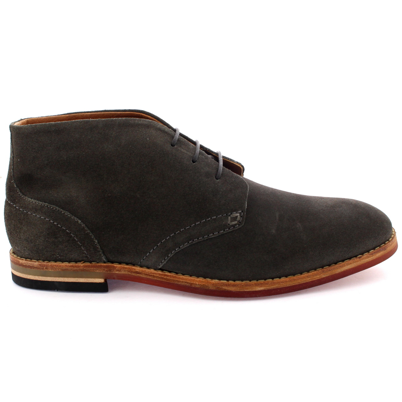 Mens H By Hudson Houghton 3 Leather Suede Work Smart Chukka Boots ...