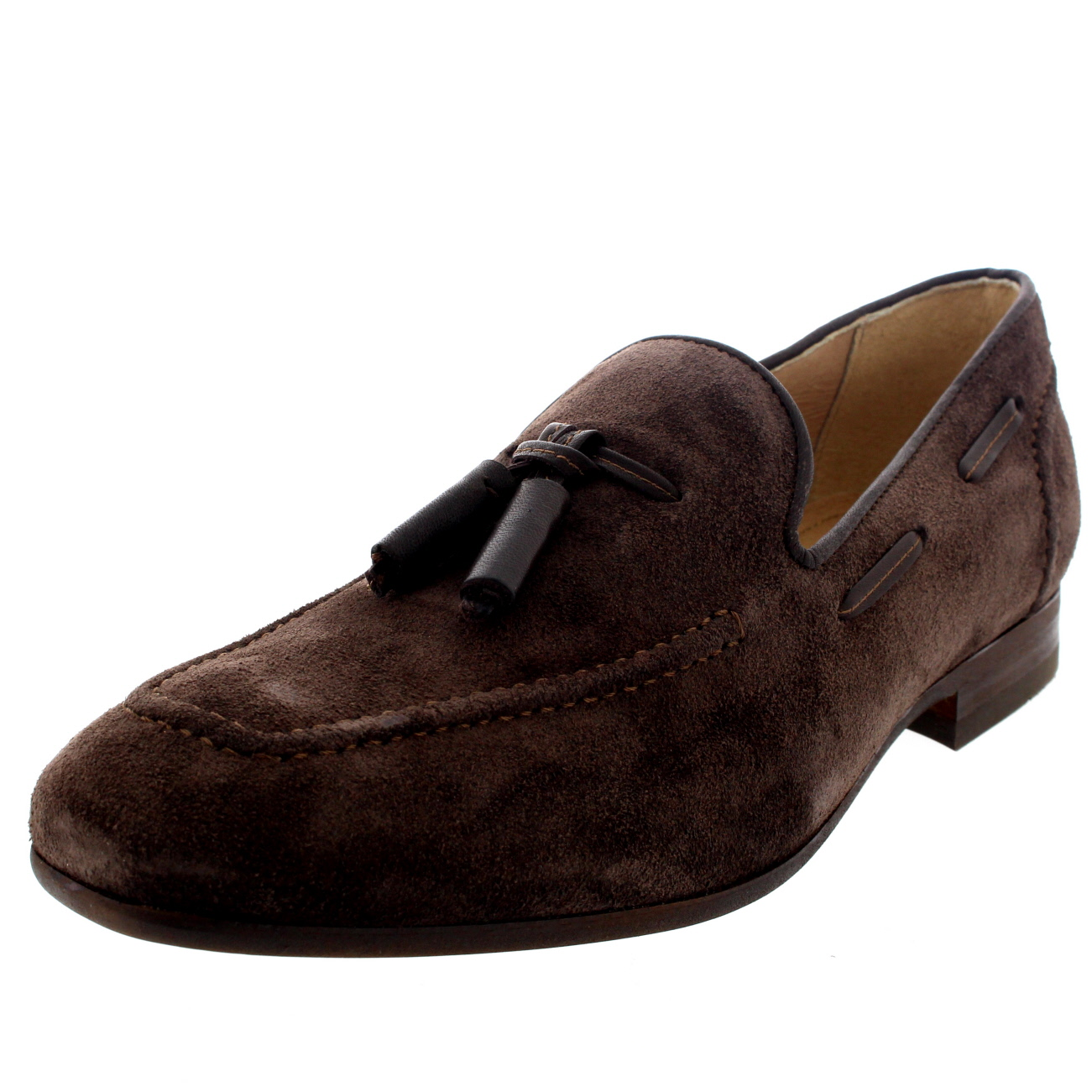 mens h by hudson suede smart slip on work loafers