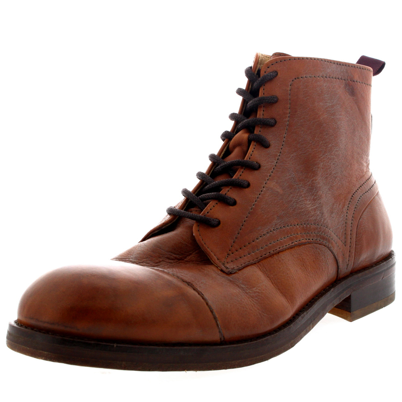 Mens H By Hudson Palmer Smart Leather Lace Up Office Ankle Boot Shoes UK 6-12