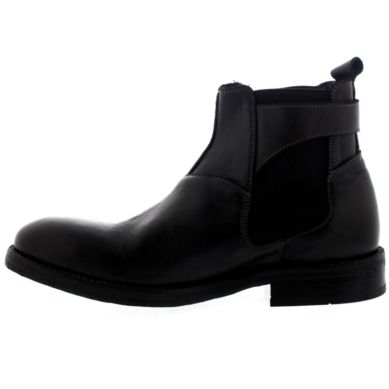 Mens H By Hudson Parson Leather Chelsea Boots Smart Work Office ...