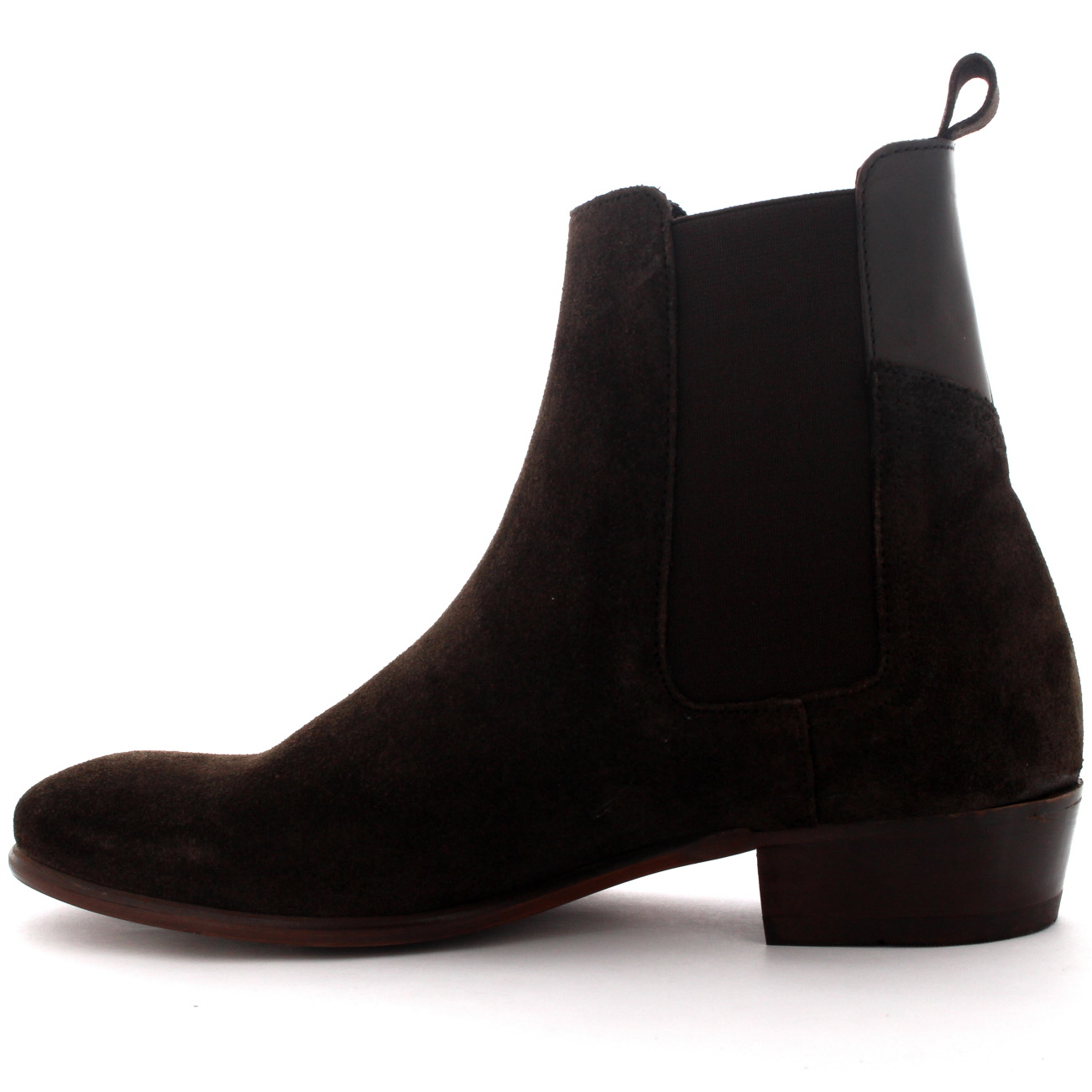 mens h by hudson watts suede black pull on casual ankle