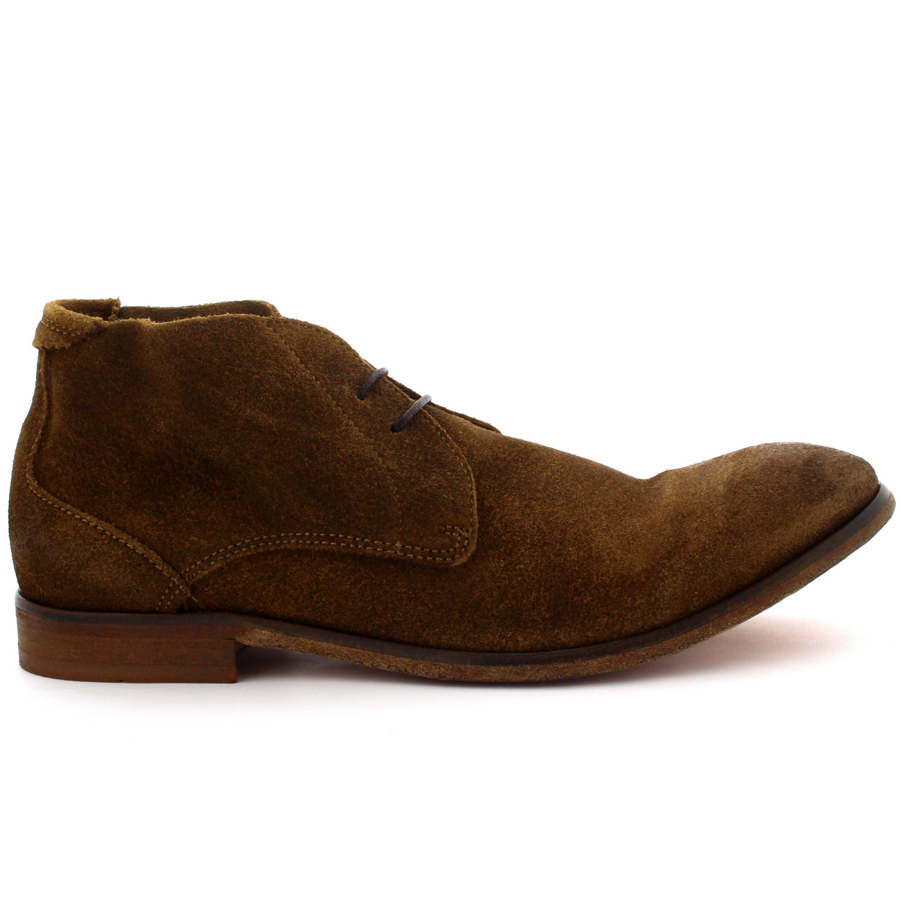 mens h by hudson osbourne suede ankle high smart casual