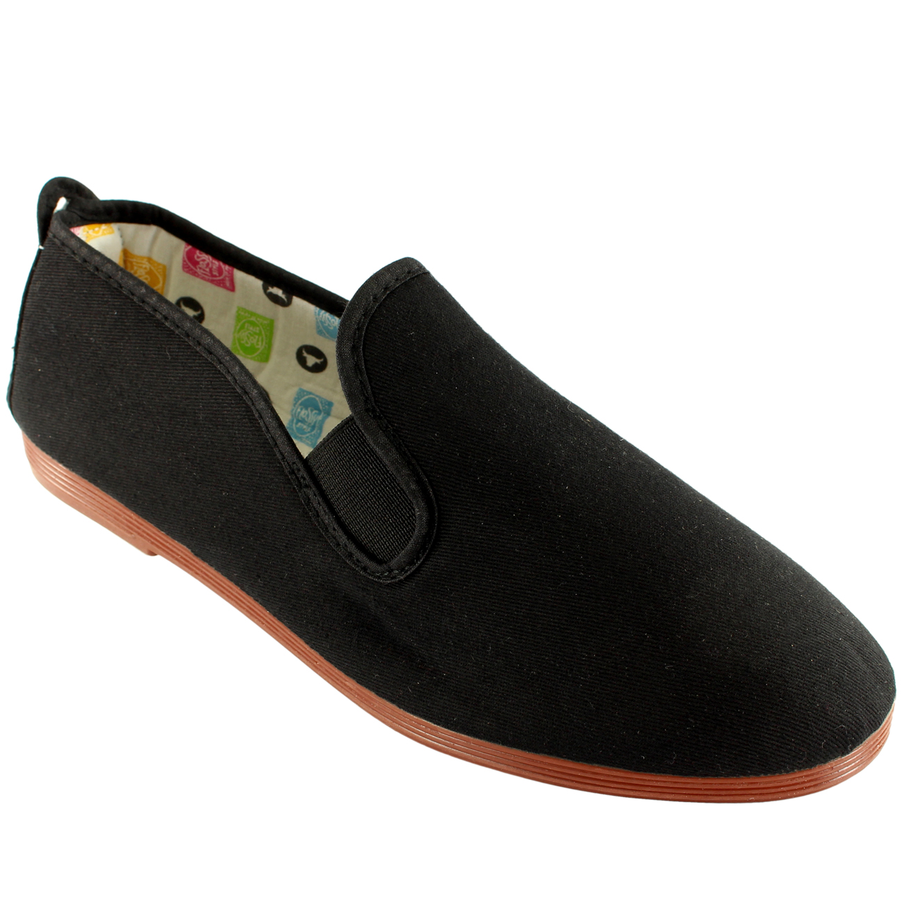 mens flossy kung fu arnedo slip on canvas summer flat