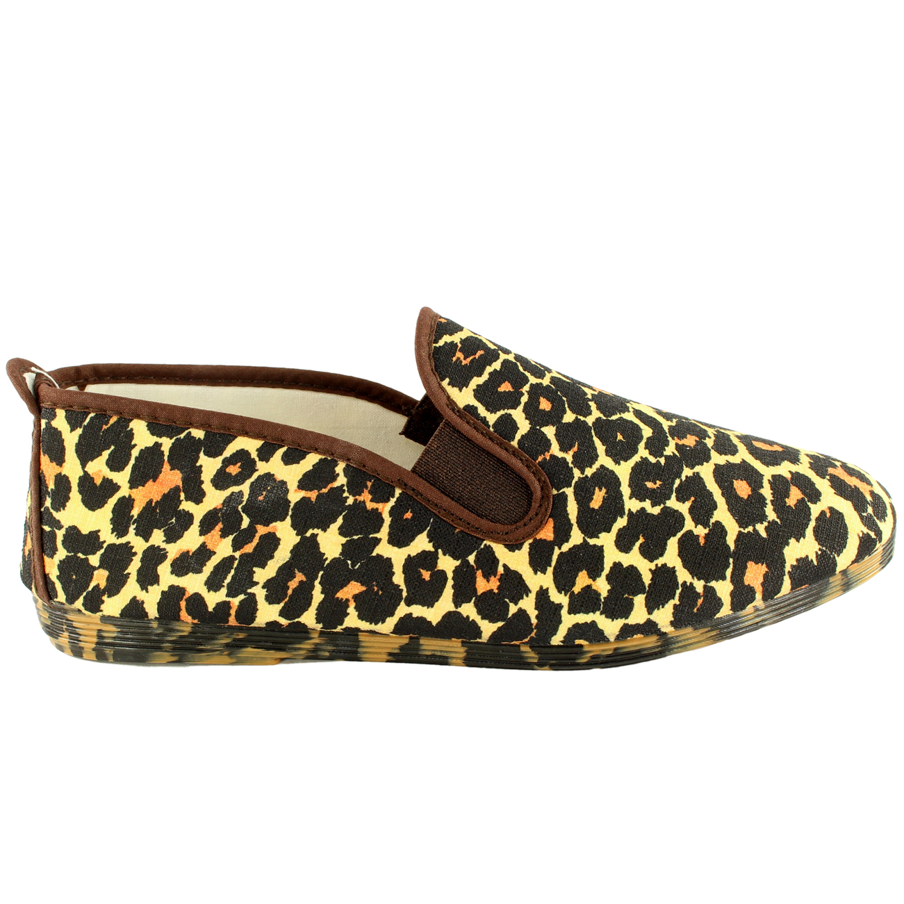 womens kung fu flossy ezcaray leopard print slip on