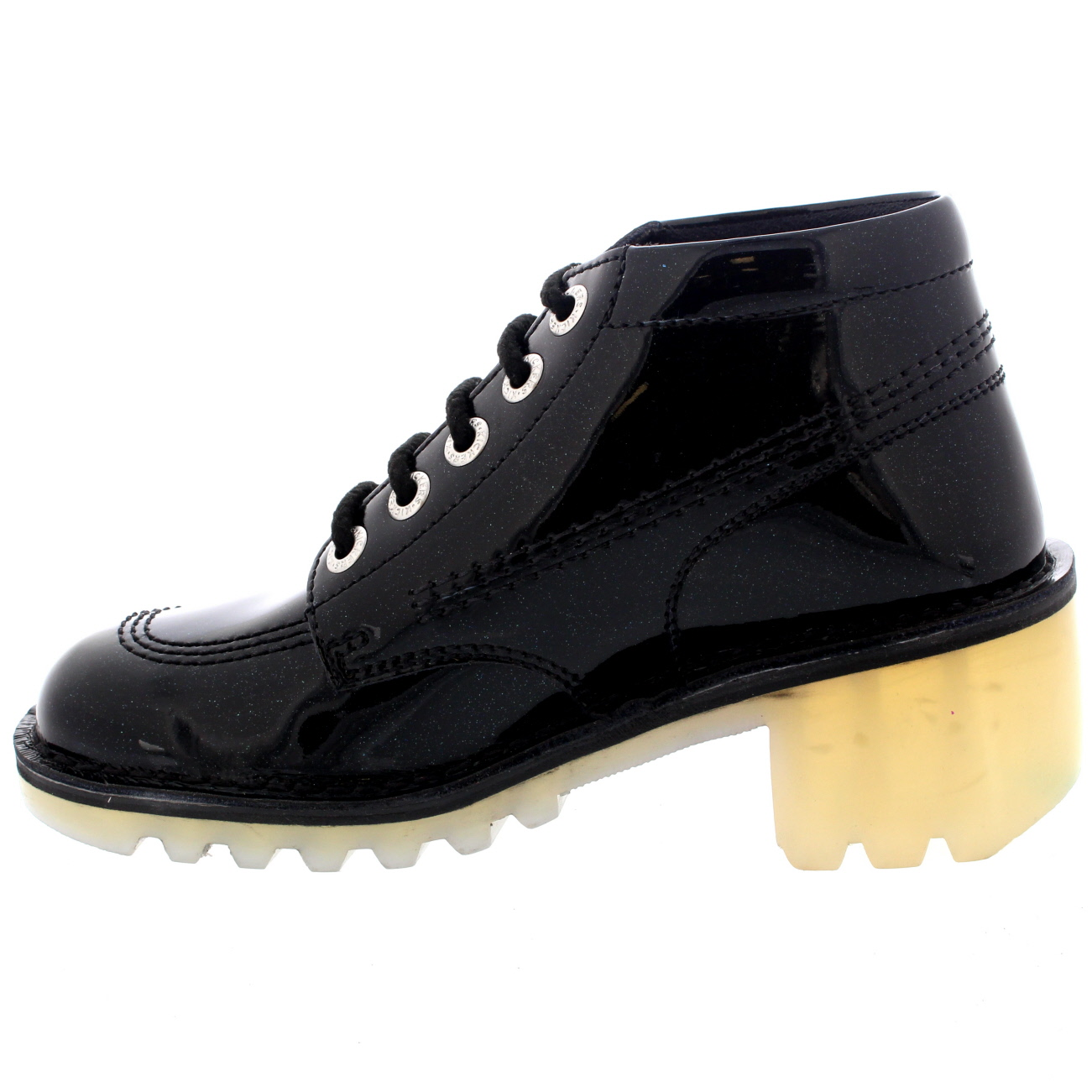 Simple Home Kickers Womens Black Kick Lo T Leather Shoes