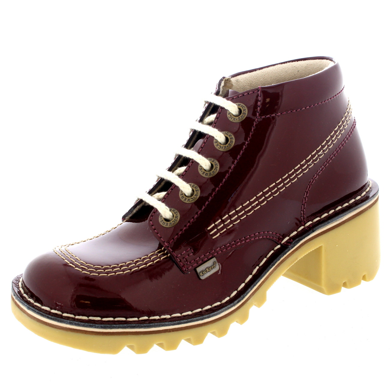 Beautiful Details About KICKERS GIRLS WOMENS BACK TO SCHOOL BROGUE BOW SHOES