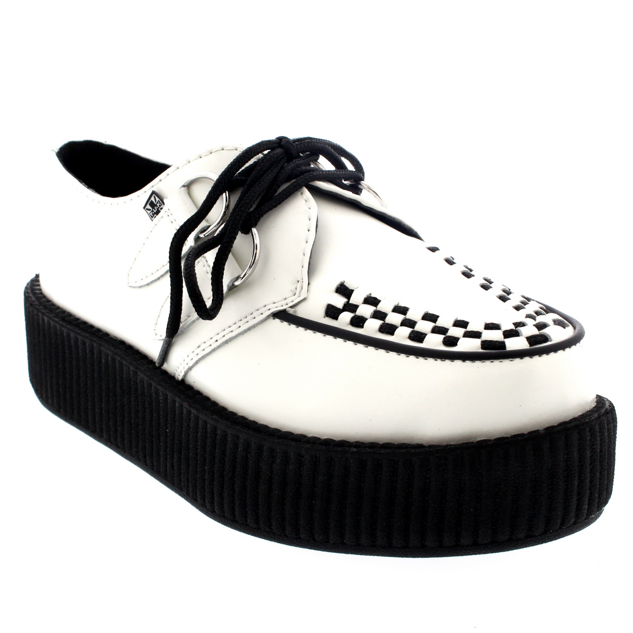 T.U.K Viva Mondo Hi Sole Creeper Leather