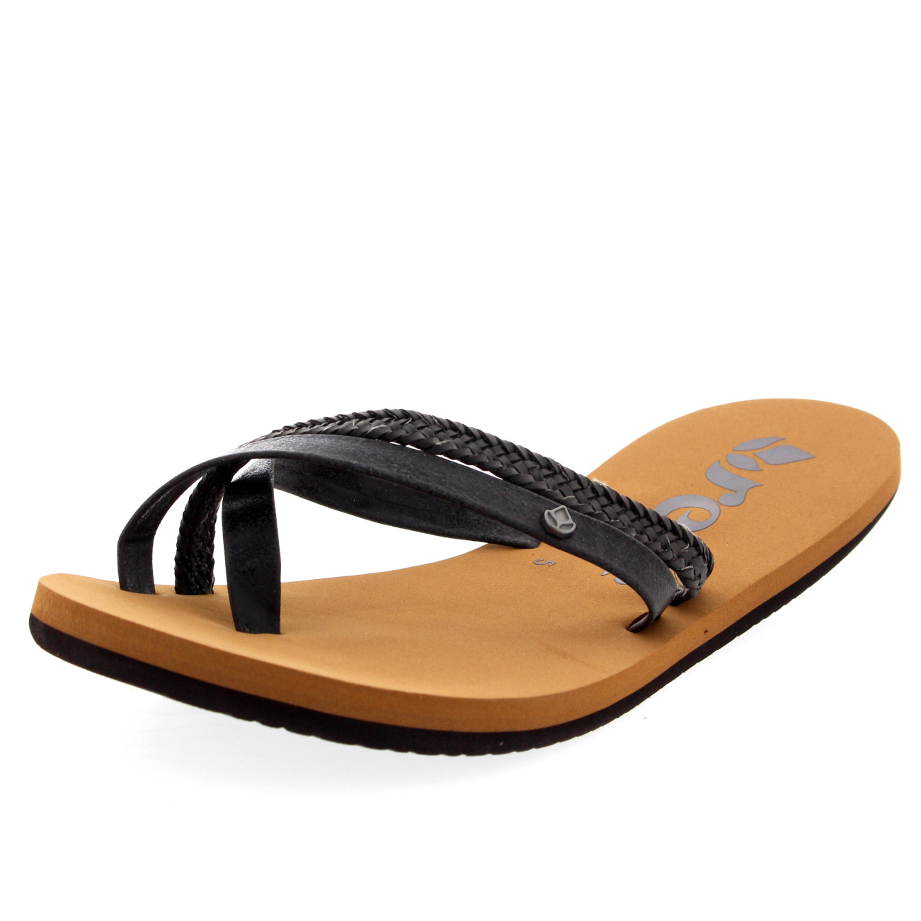 Black sandals holiday - Womens Reef O Contrare Lx Holiday Beach Summer Lightweight Black Sandals Uk 3 8