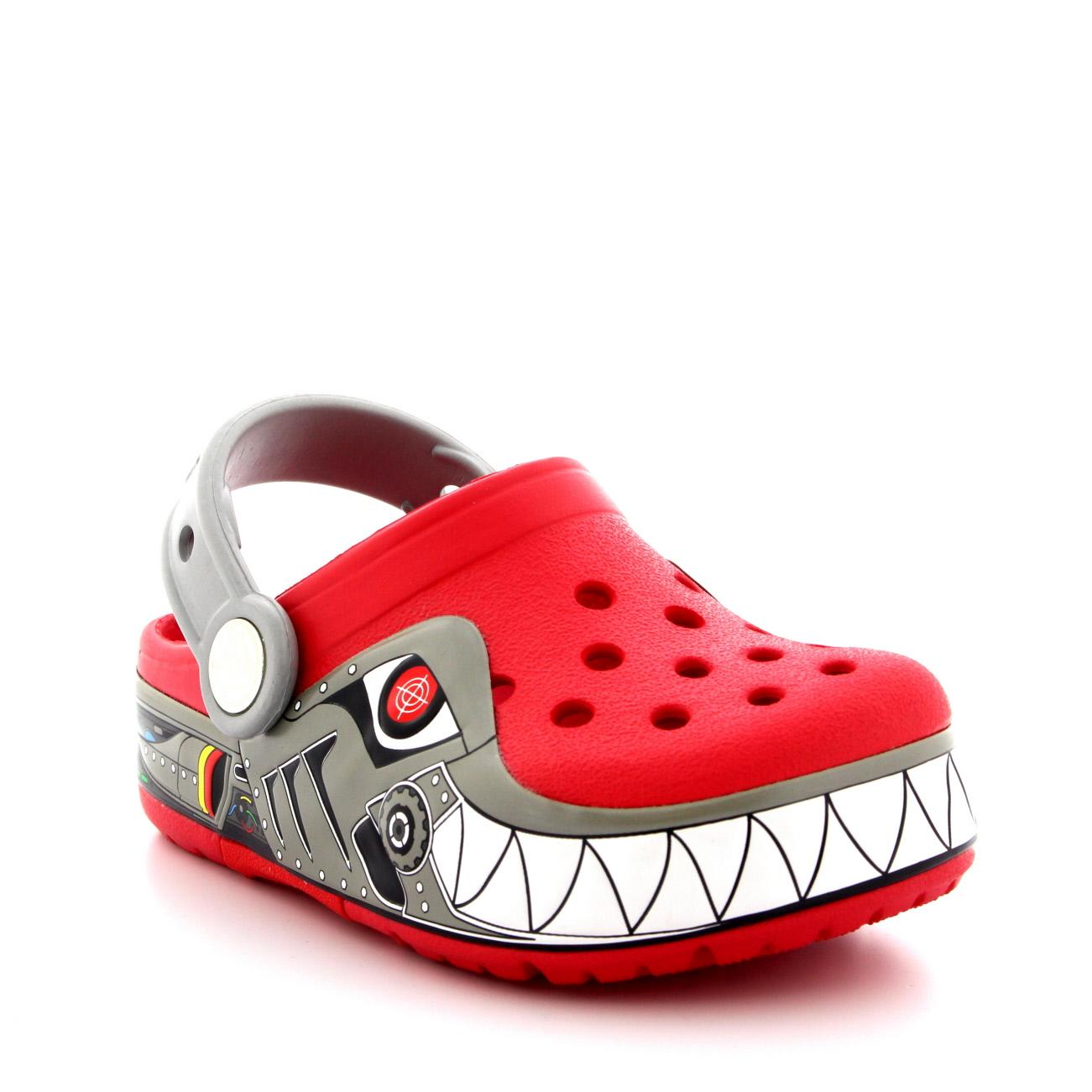 Kids Boys Crocs Crocslights Robo Shark