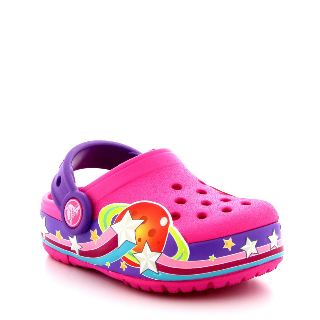 Kids Girls Crocs Crocslights Galactic