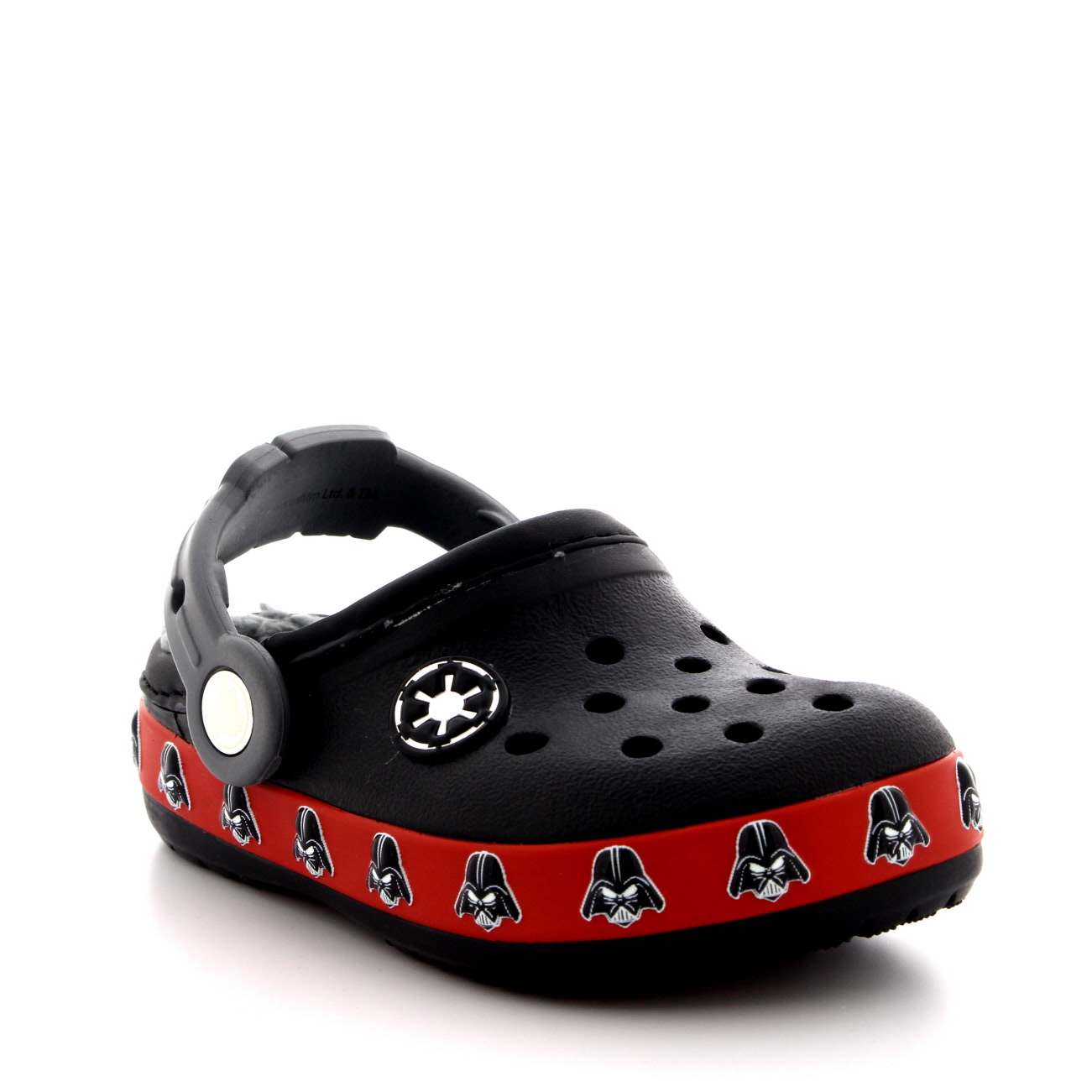 Kids Boys Crocs Darth Fader Fuzz Lined