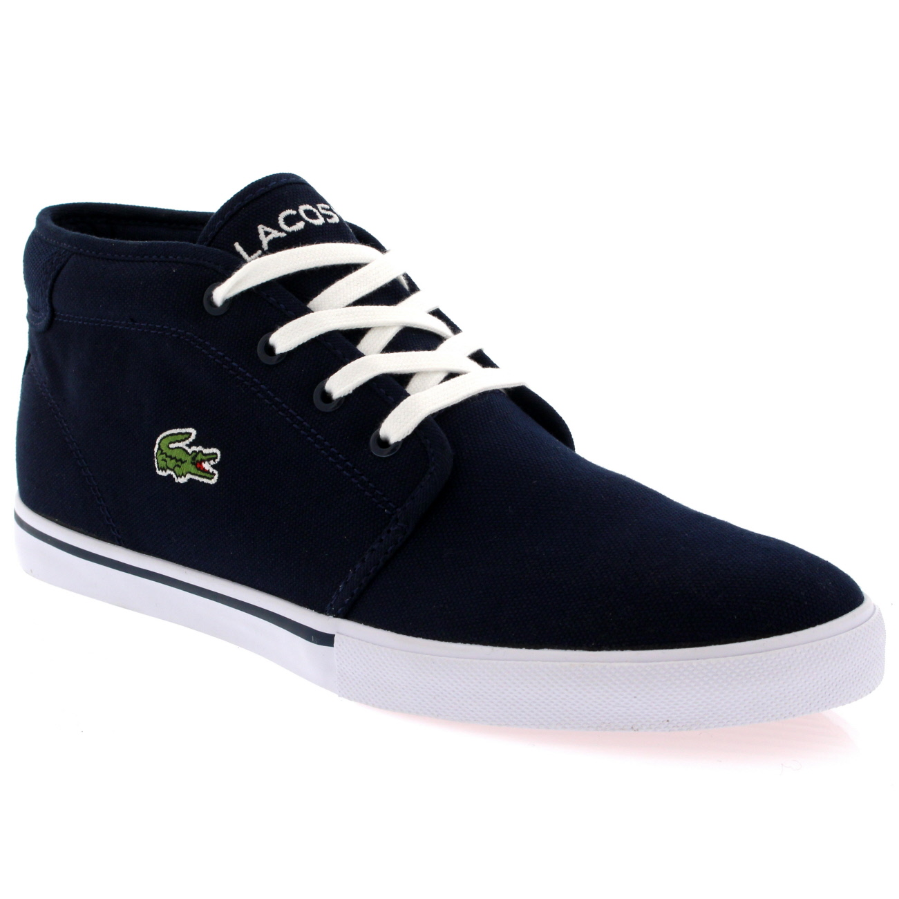 Lacoste Ampthill Canvas Trainers