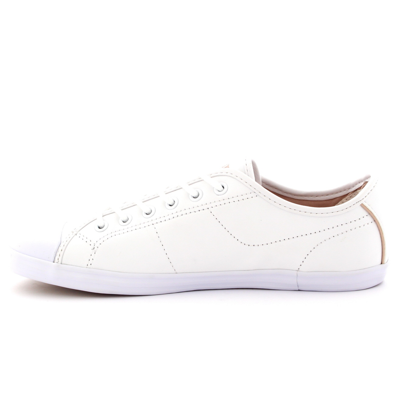 d944c80fe812e lacoste ziane white leather plimsoll trainers