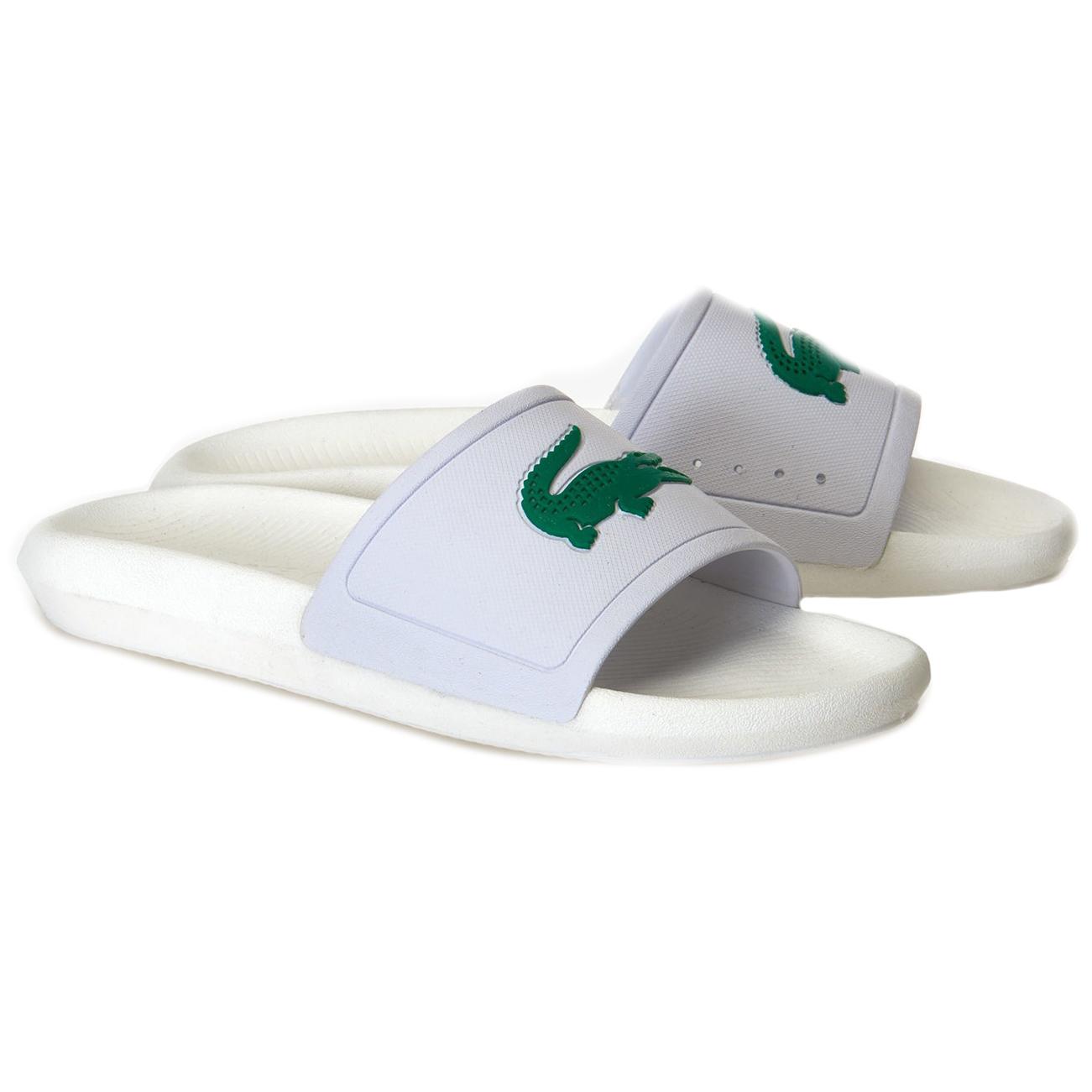 Womens Lacoste Croco Slide 119 3 Lightweight Beach Summer Sliders Sandals UK 3-8
