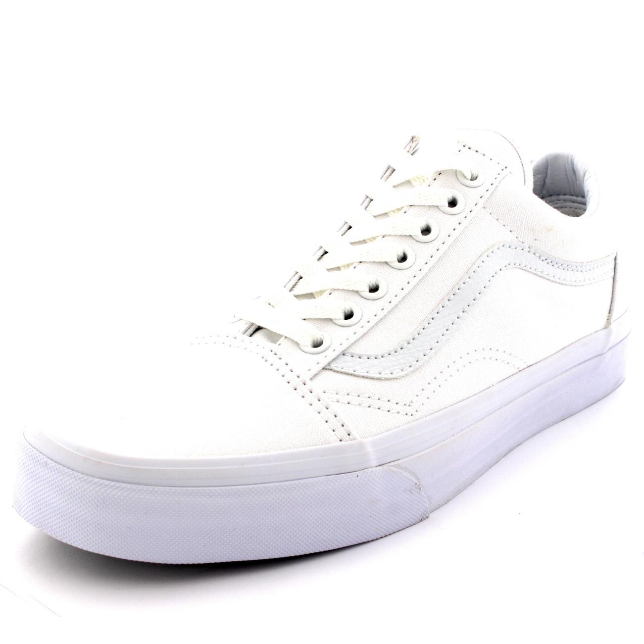 mens vans old skool low top skate shoes white lace up. Black Bedroom Furniture Sets. Home Design Ideas