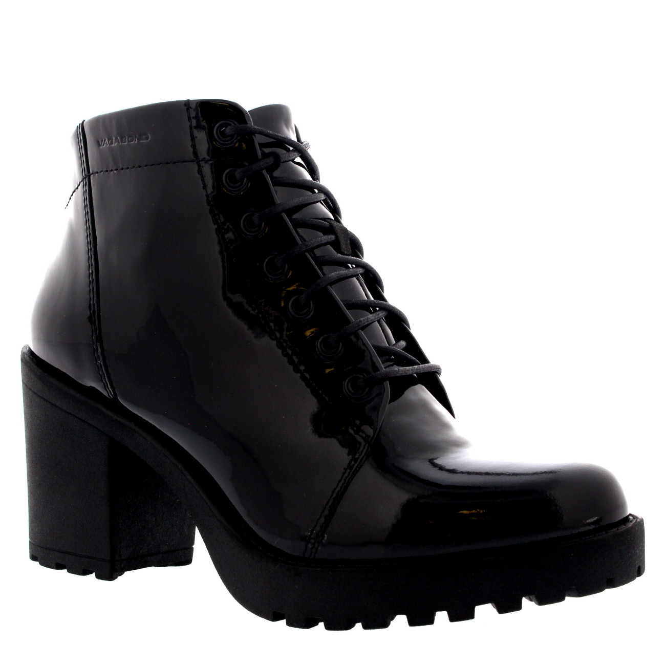 Vagabond Grace Mid Heel Patent Boots