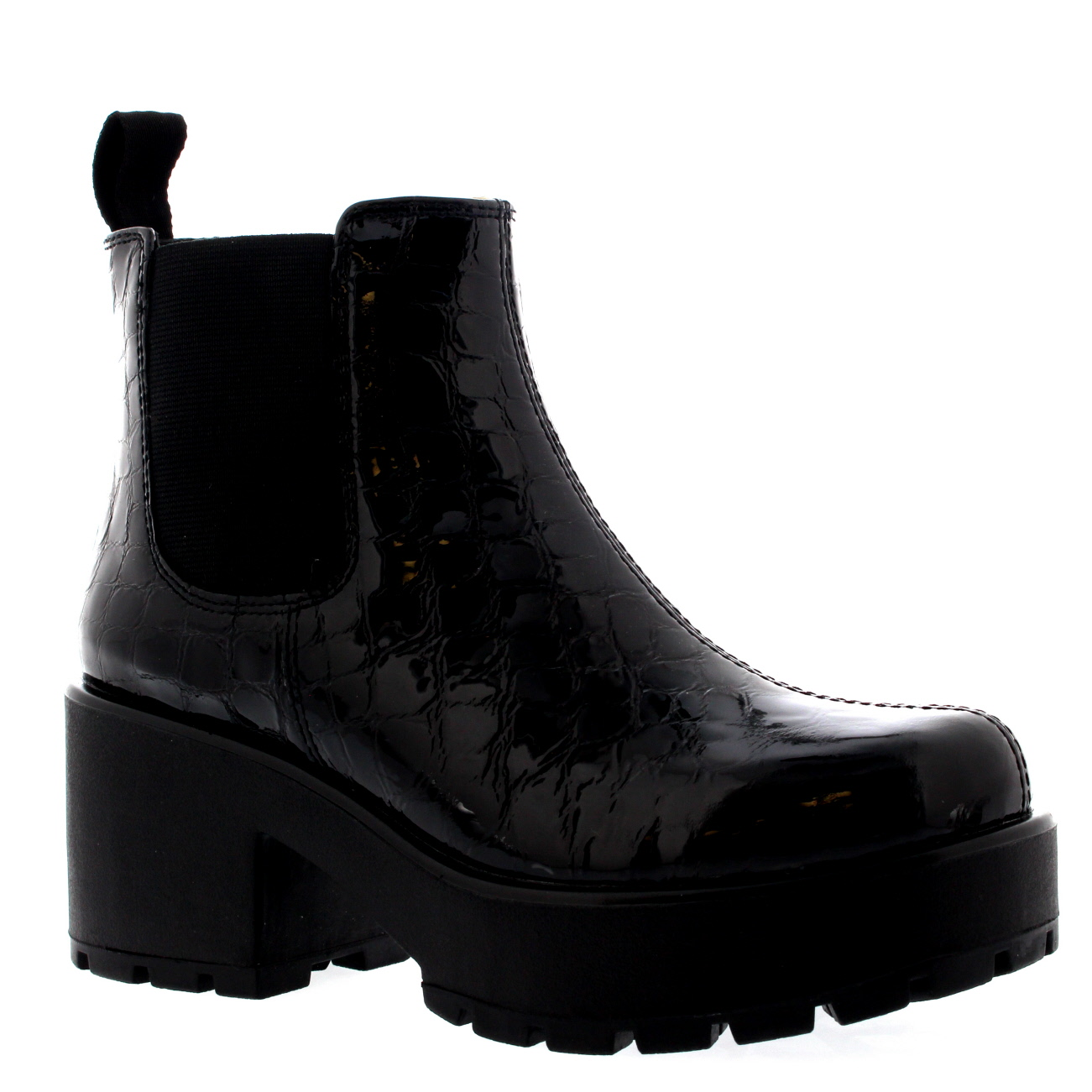 Vagabond Dioon Patent Croc Boots