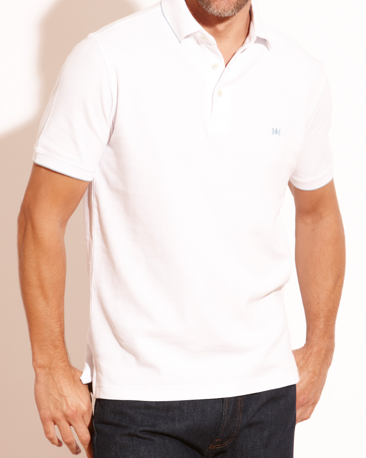 Savile-Row-Mens-White-Pique-Polo-Shirt-SRDD1