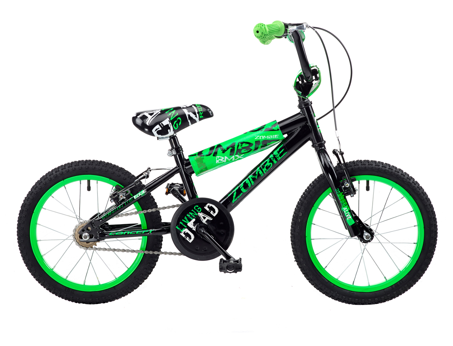 concept zombie 16 rad bmx fahrrad 5 7 yrs ebay. Black Bedroom Furniture Sets. Home Design Ideas