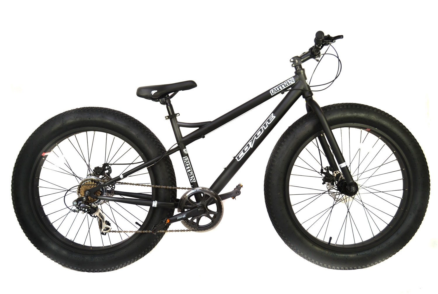 coyote fatman fat bike 26 x 4 with disc brakes black rrp. Black Bedroom Furniture Sets. Home Design Ideas