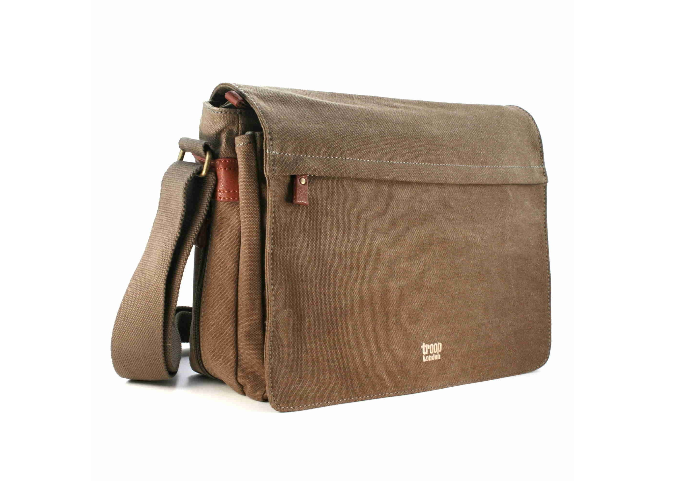 Troop London Canvas Messenger Shoulder Bag 27