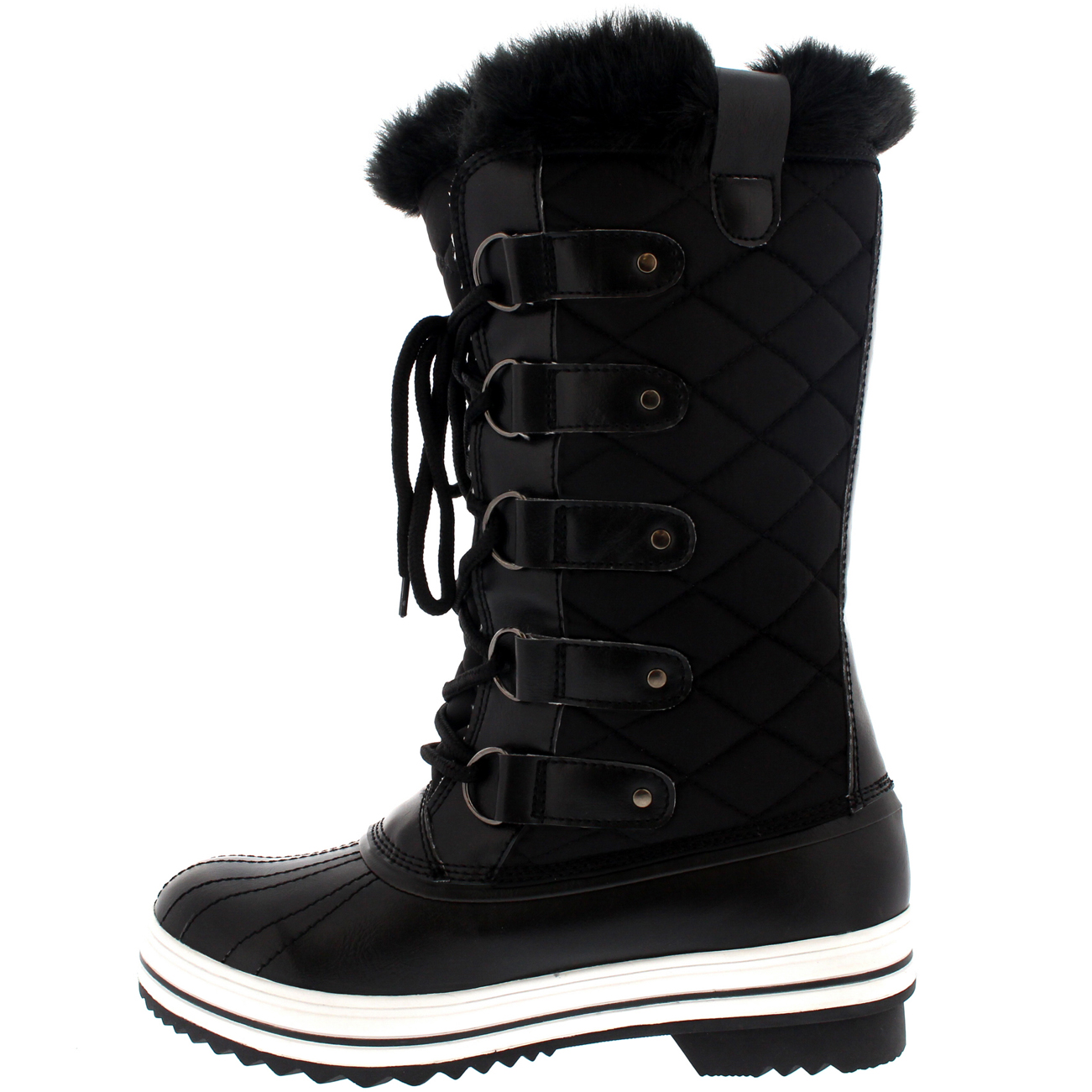 Cool   Boots  Snow Boots  Womens Black Winter Snow Moon Ski Boots