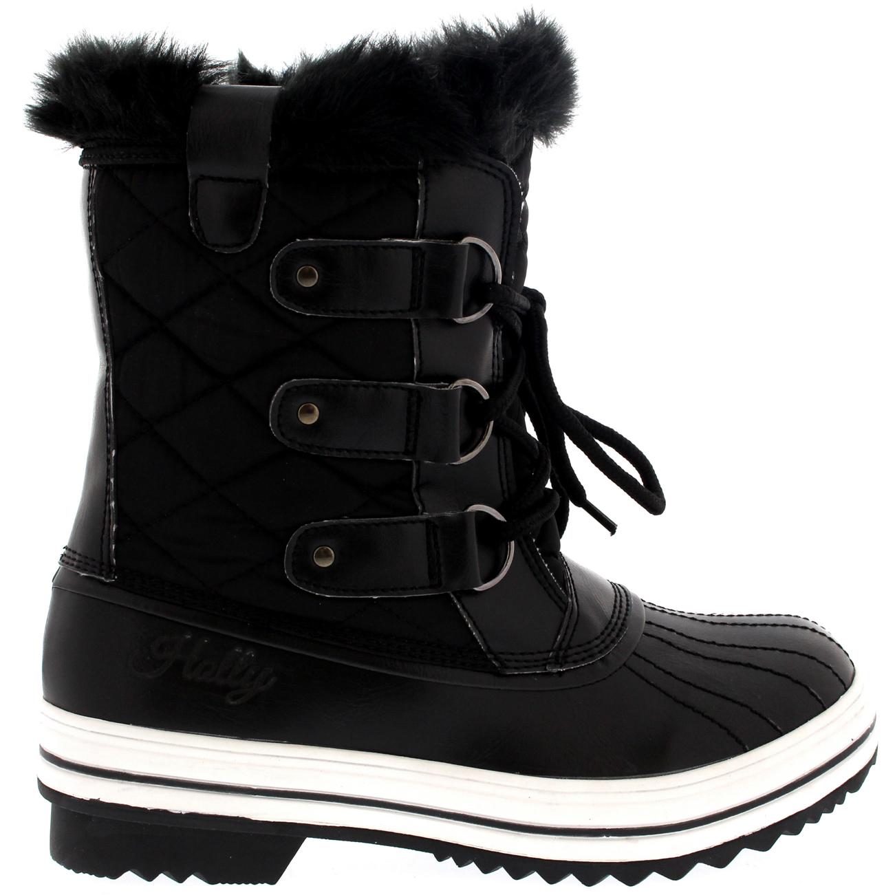 Amazing Details About Womens Snow Boot Nylon Short Winter Snow Fur Rain Warm