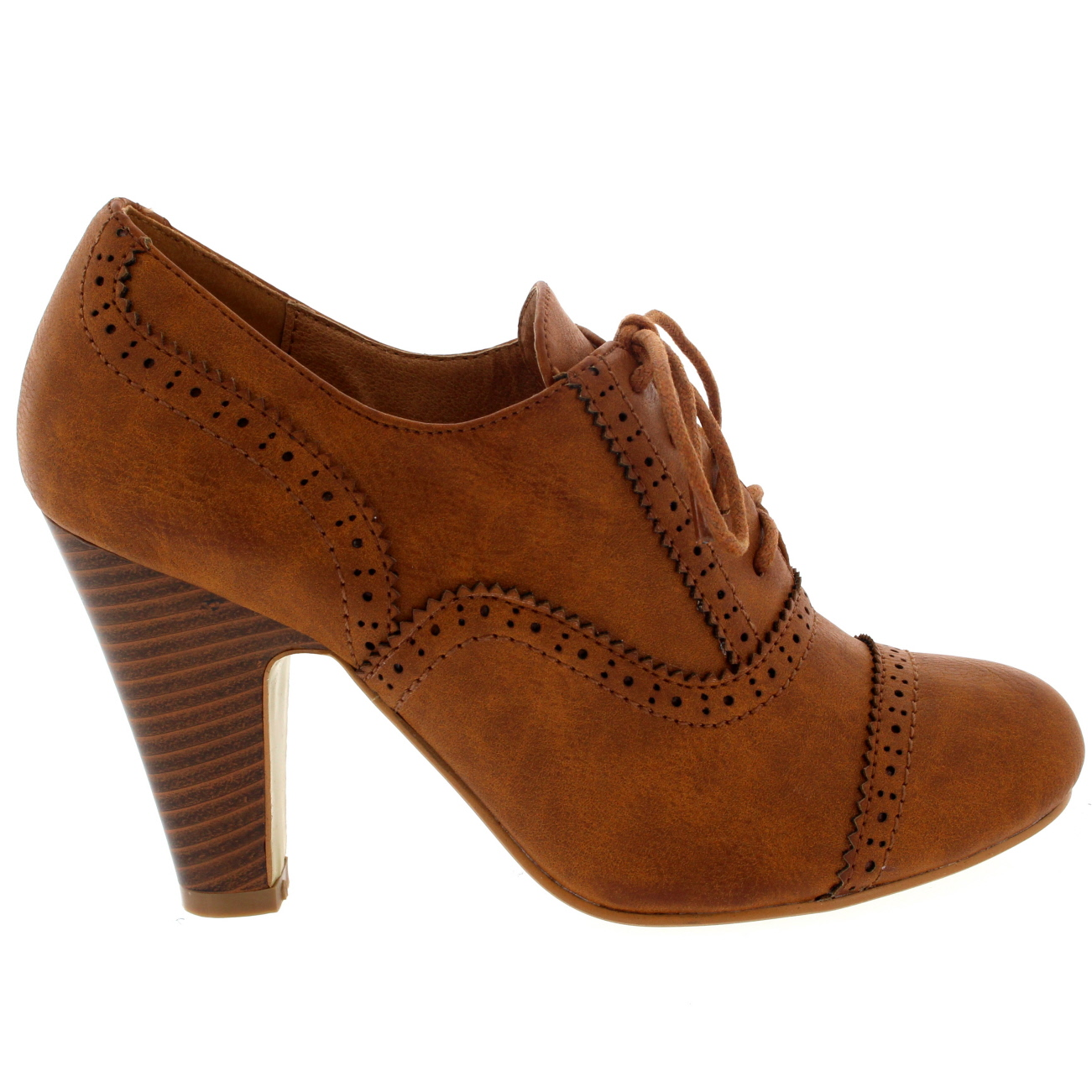 brogue lace up ankle boot cuban heel work