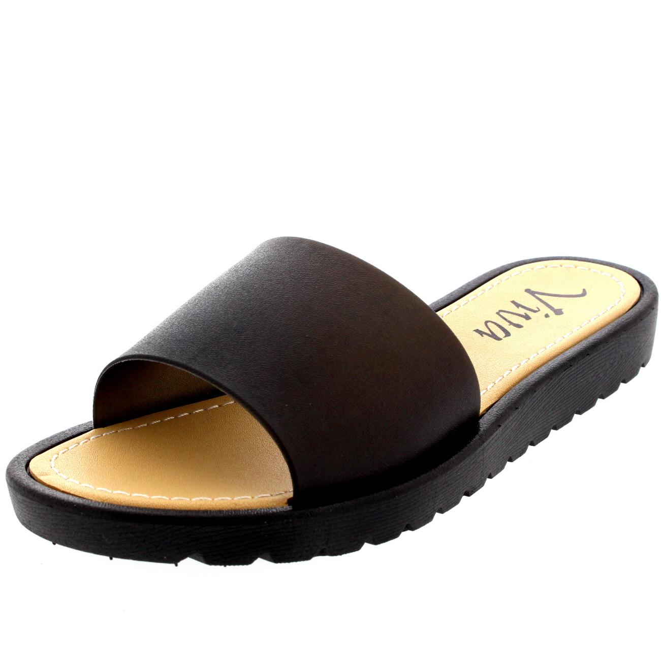 Ladies Pool Sliders Peep Toe Summer Holiday Shoes Flatform ...