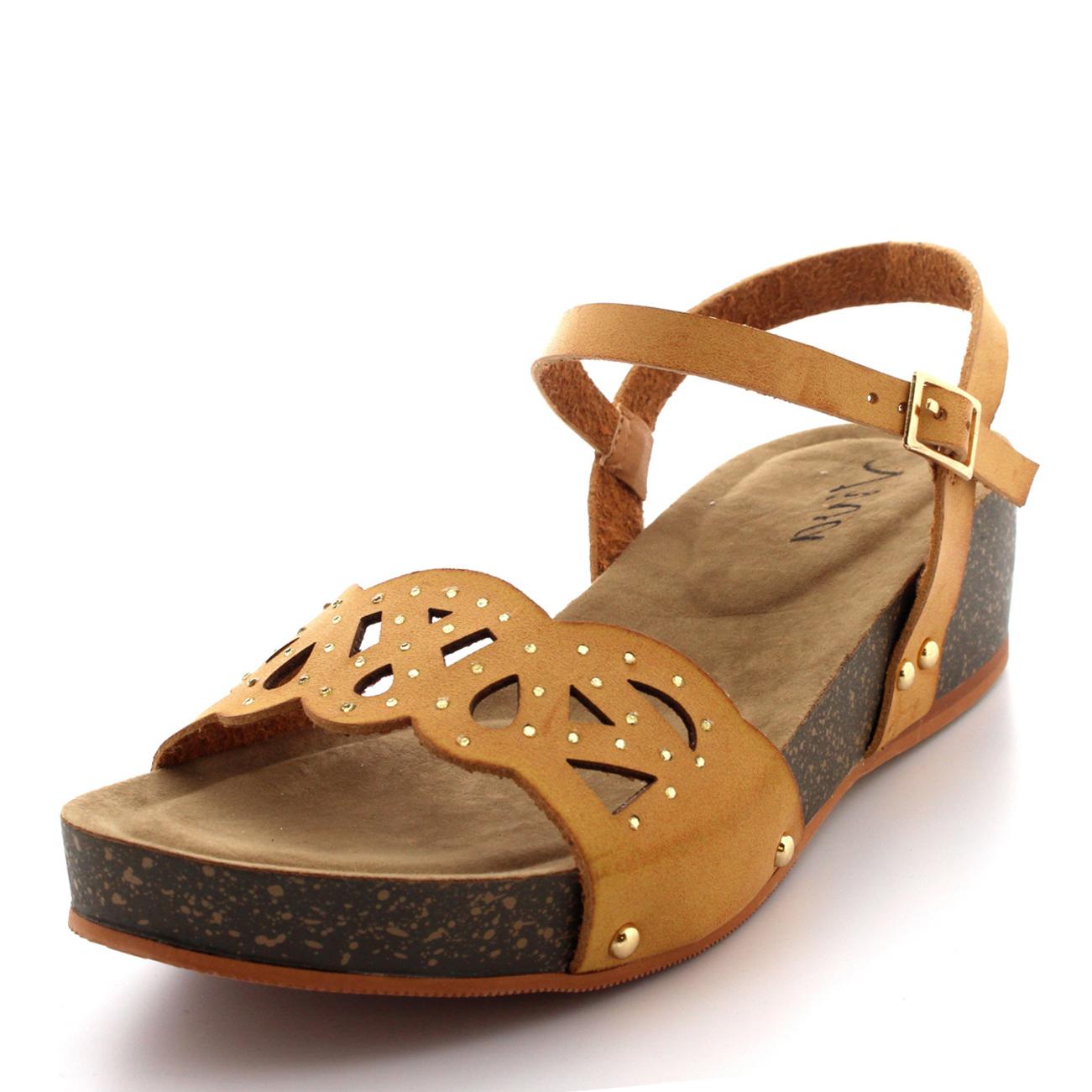 Ladies Platform Open Toe Ankle Strap Roman Jewelled Flat ...