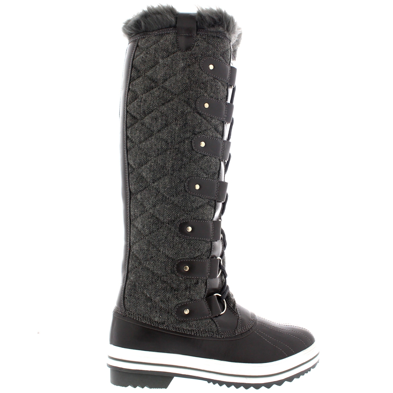 quilted fur lined duck muck winter snow knee