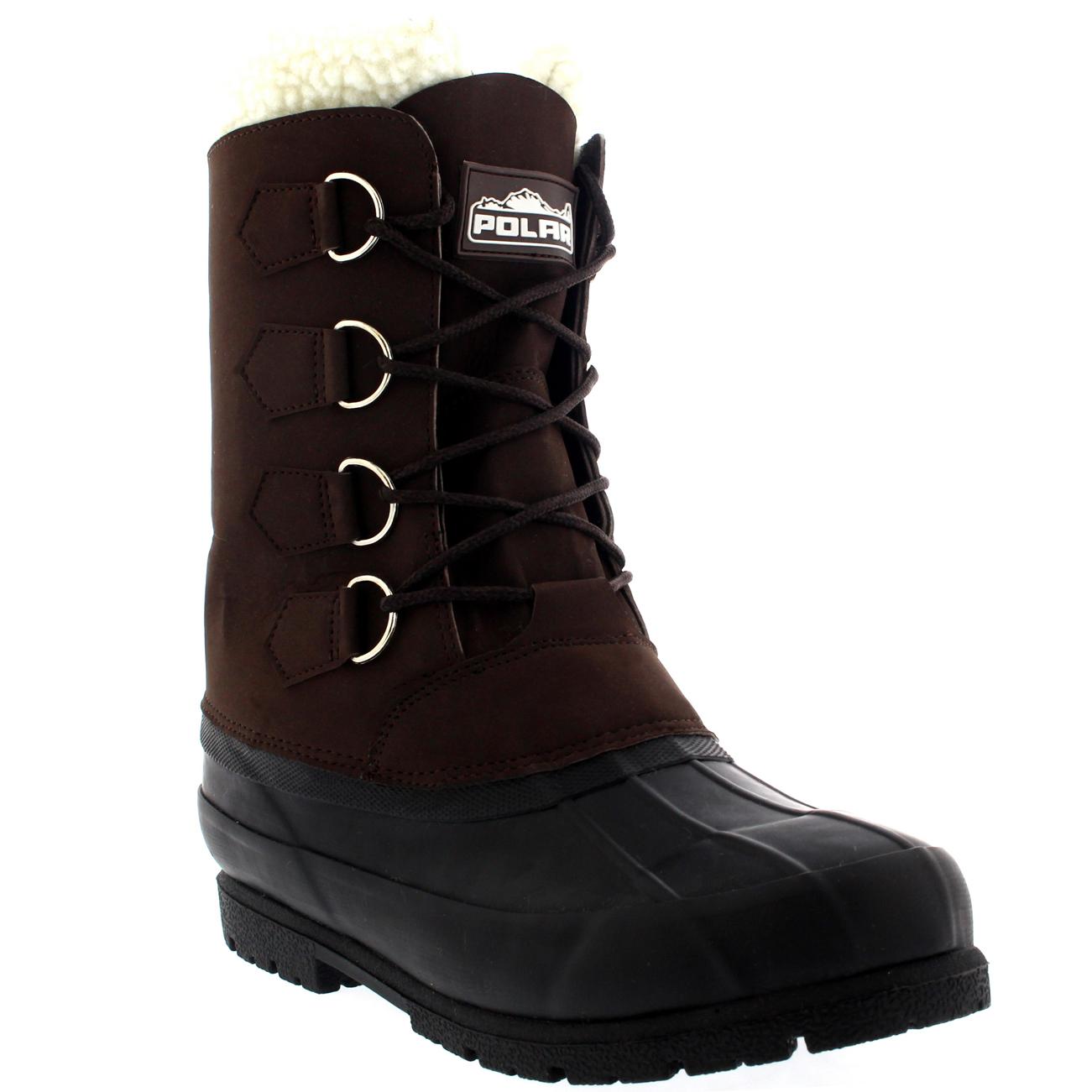 mens winter wool lined 100 rubber duck sole warm casual