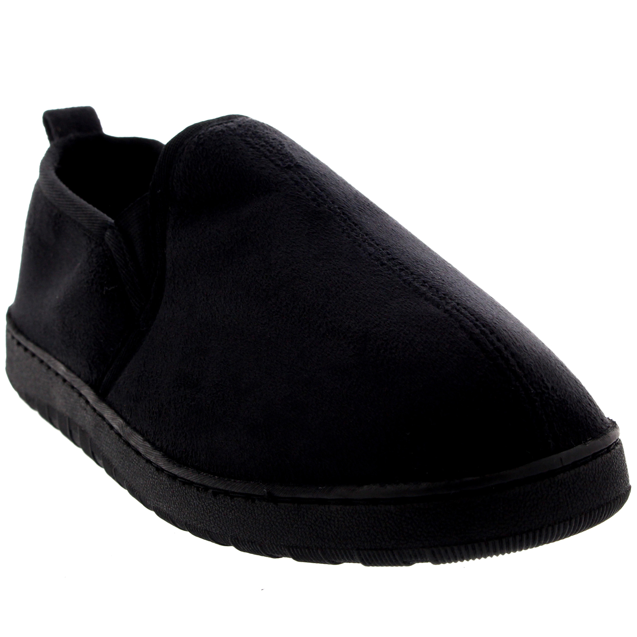 Mens Fur Lined Loafer Slip On Cosy Winter Warm Slipper Shoes Moccasin All Sizes | EBay