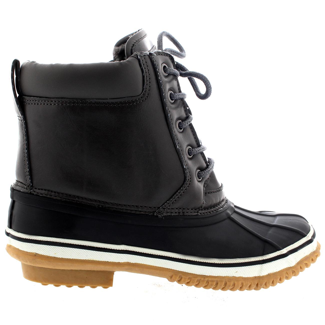 Ladies Rain Muck Yard Waterproof Snow Warm Durable Bean Ankle ...