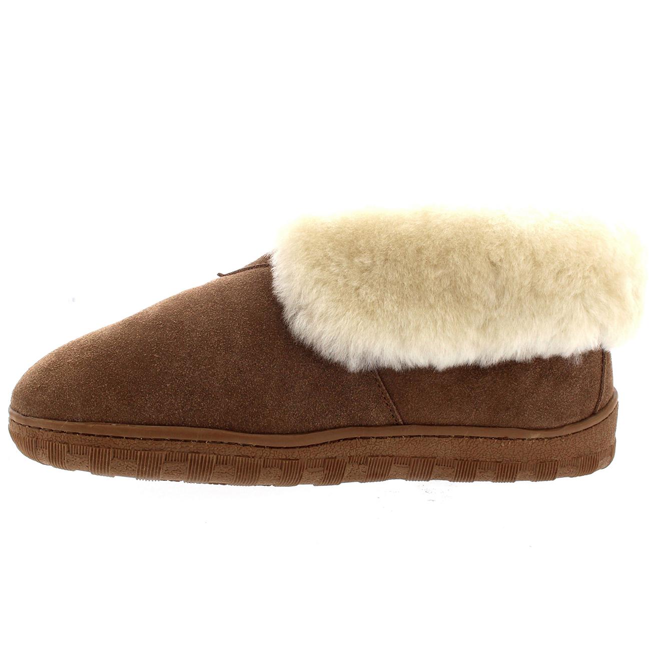 mens winter genuine australian sheepskin fur cuff ankle