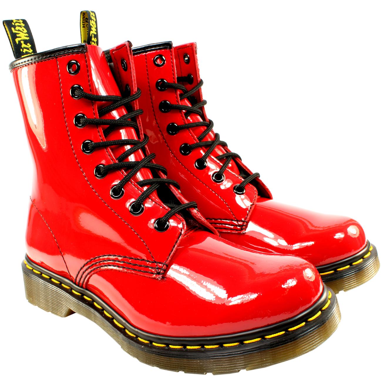Black Patent Lace Up Shoe Boots