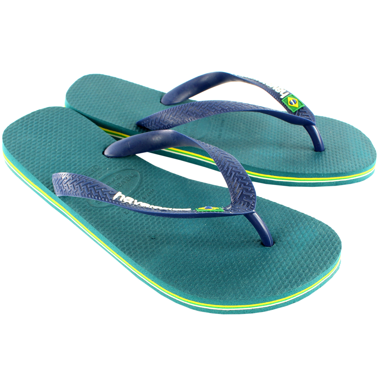 Mens Havaianas Brasil Logo Sandal Holiday Flip Flops Slip On Flats New All Sizes