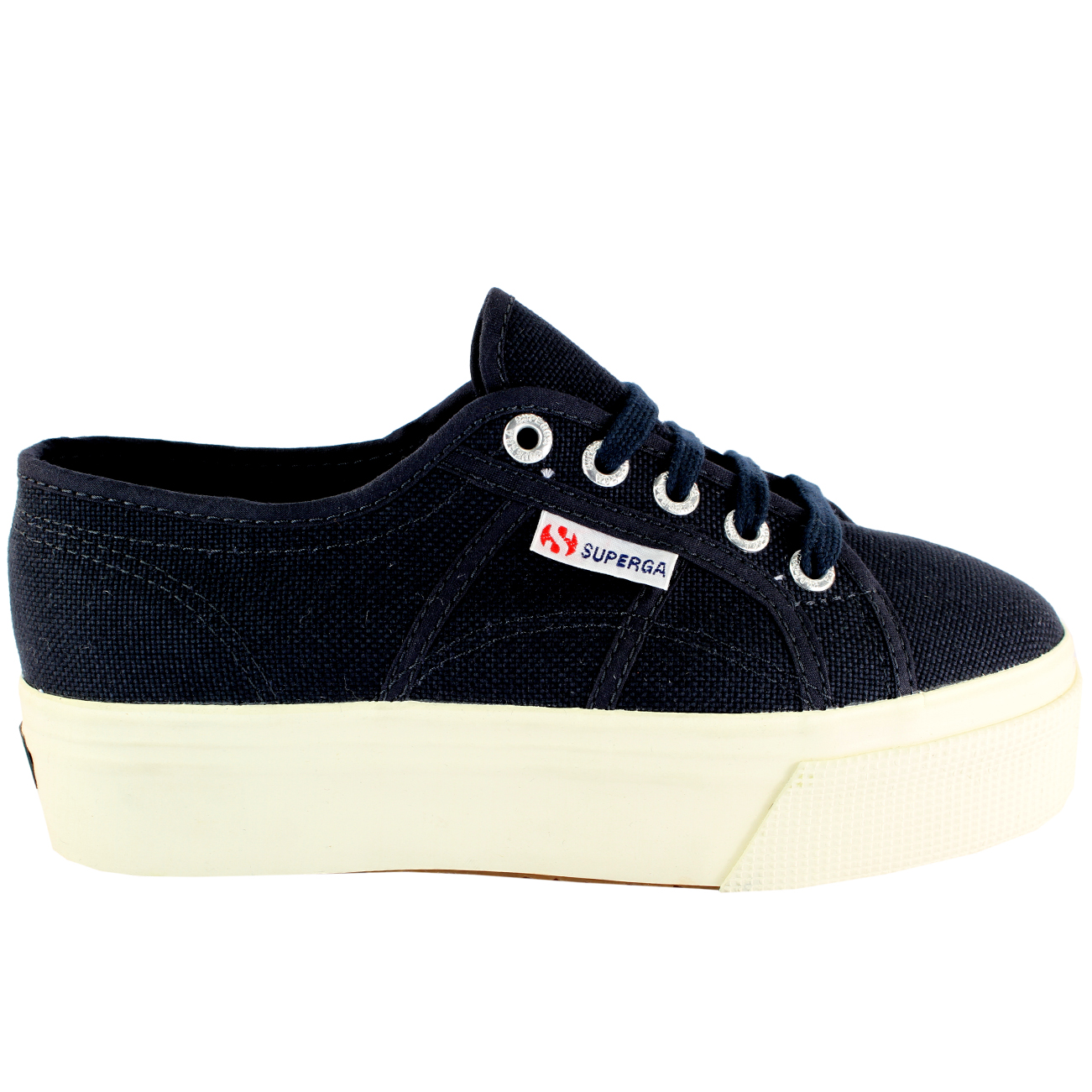 womens flatform superga canvas chunky sole low cut sneakers uk all sizes ebay. Black Bedroom Furniture Sets. Home Design Ideas