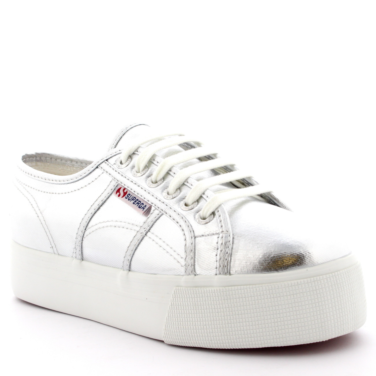 Ladies Superga 2790 Cotmetu Pumps Low Top Plimsolls Metallic Trainers All Sizes