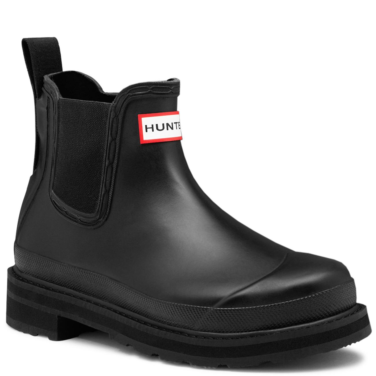 Mens hunter original pulltab lightweight chelsea snow for Mens garden boots