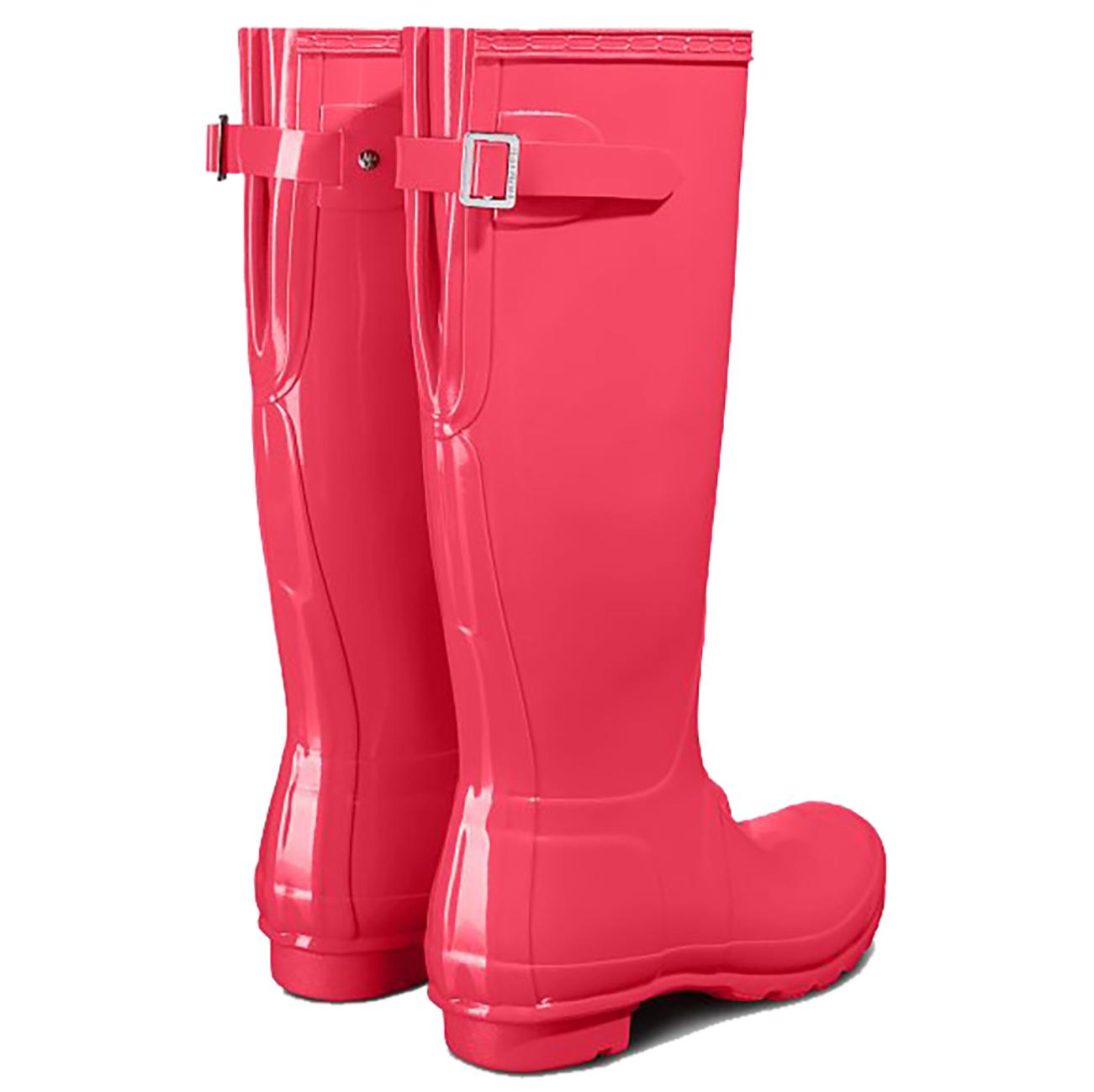 Ladies Hunter Original Tall Adjustable Gloss Rain Snow Knee High Boots All Sizes