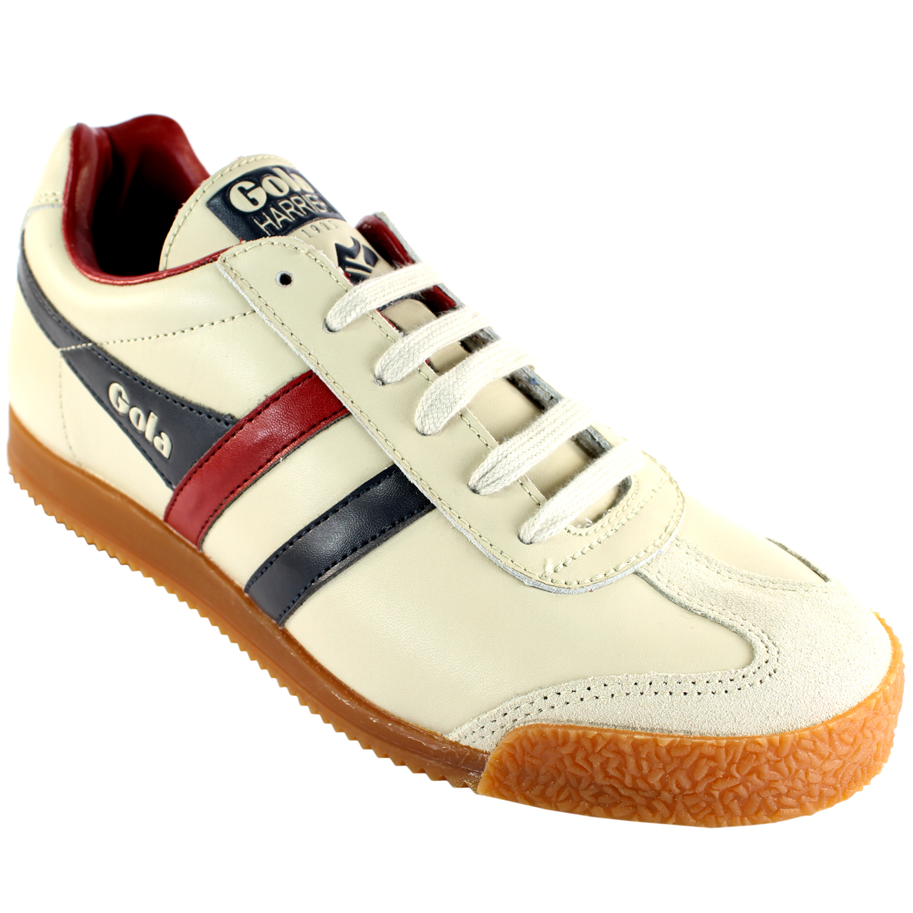 MENS GOLA HARRIER PU LEATHER STRIPED RETRO SUEDE TIP TRAINERS UK ALL SIZES