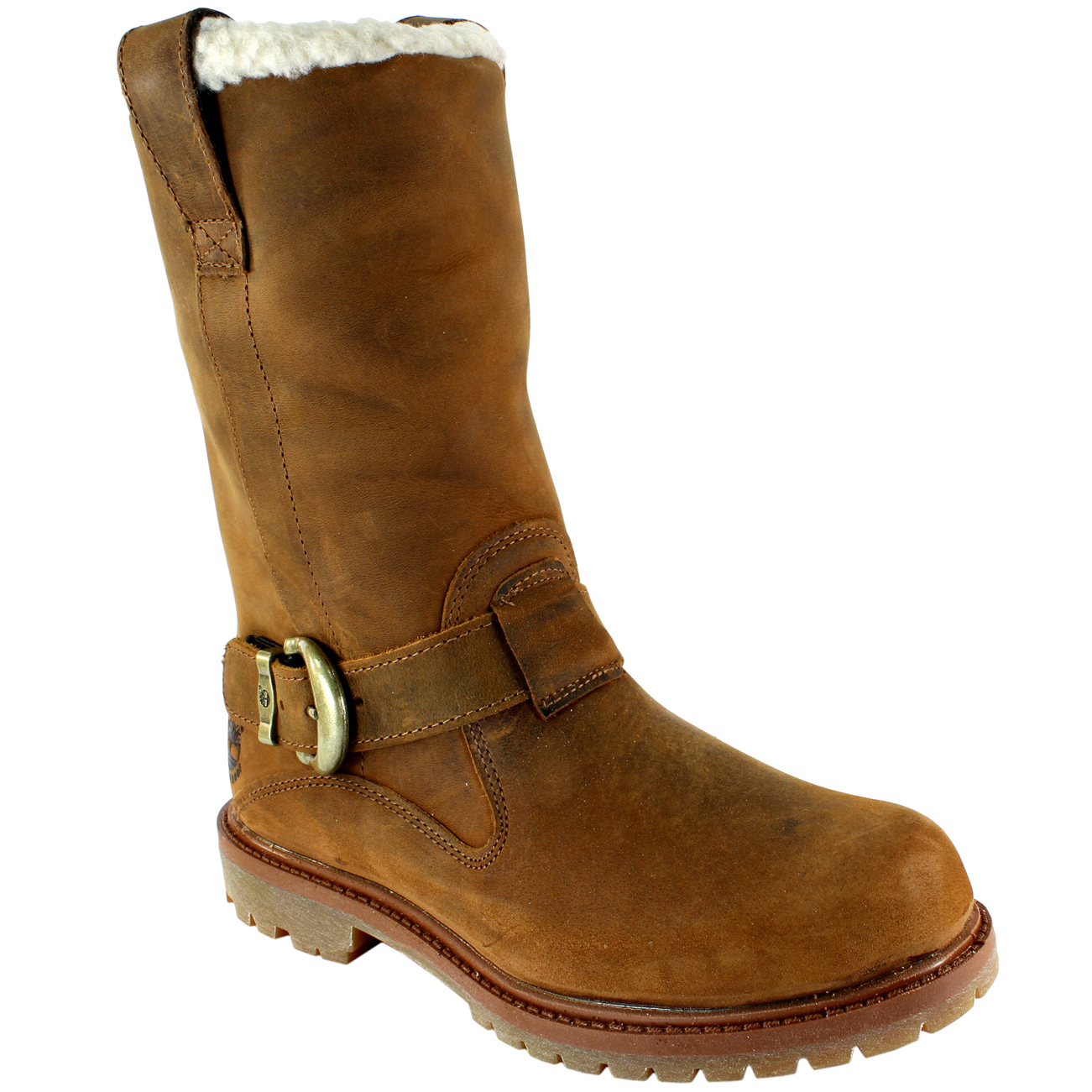womens timberland nellie pull on fur lined trim buckle