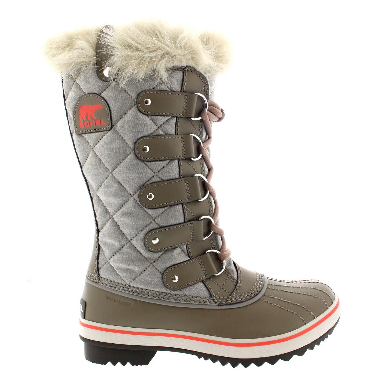 Ladies Sorel Tofino Organza Mid Calf Snow Laced Fur Rain ...