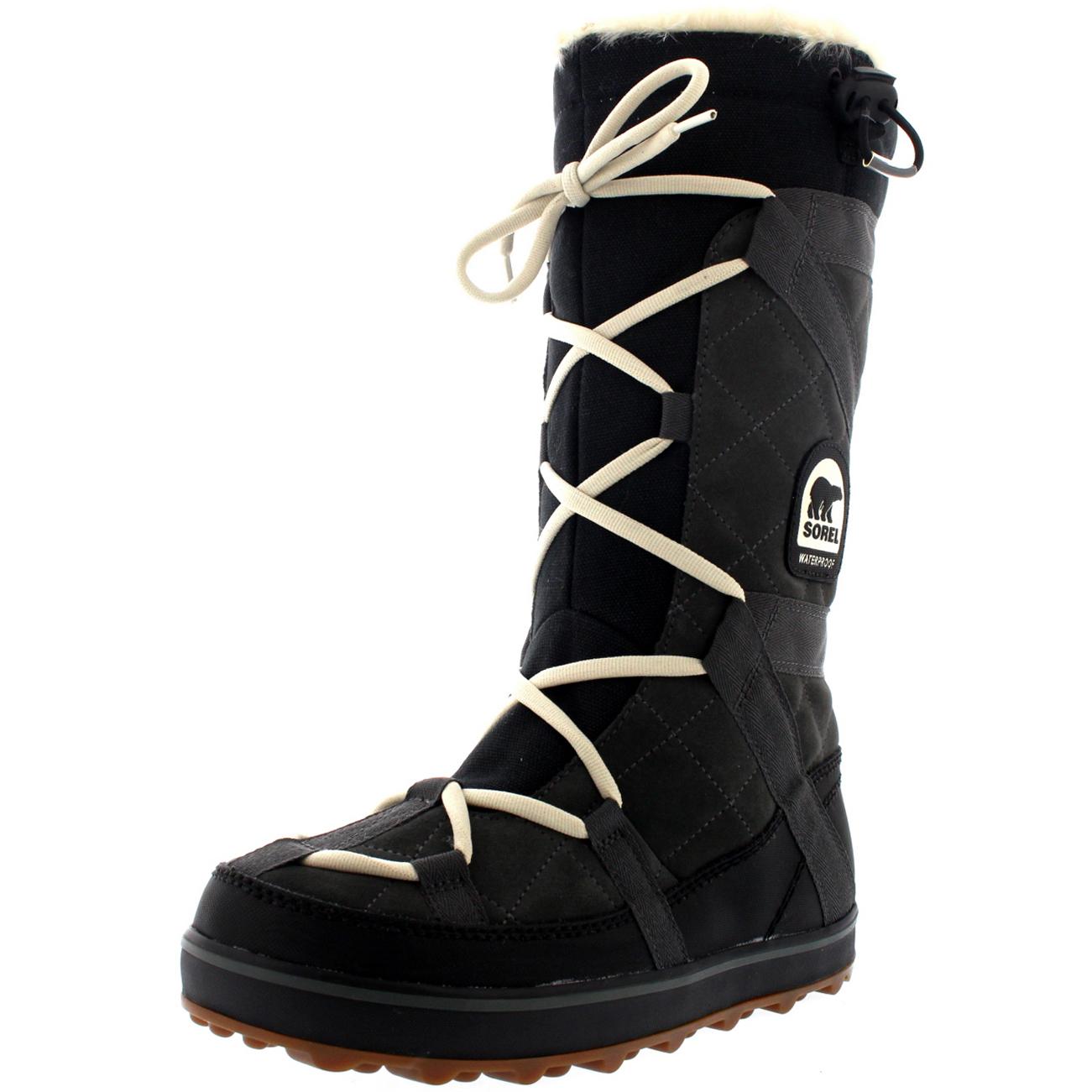 Ladies Sorel Glacy Explorer Winter Fur Lace Up Waterproof Warm ...