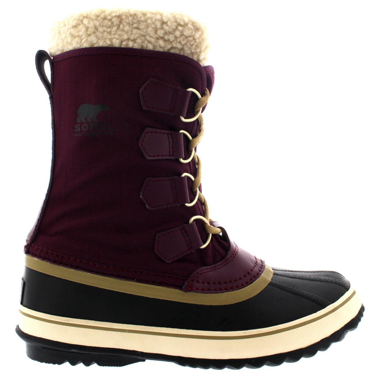Ladies Sorel Winter Carnival Duck Snow Warm Walking Hiking Winter Boot All Sizes